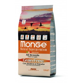 Monge Grain Free secco cane All Breeds