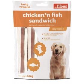 Sandwich di Pollo e Pesce per Cani