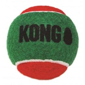 Kong Palle Tennis Natale con Squeaker 3 pz.