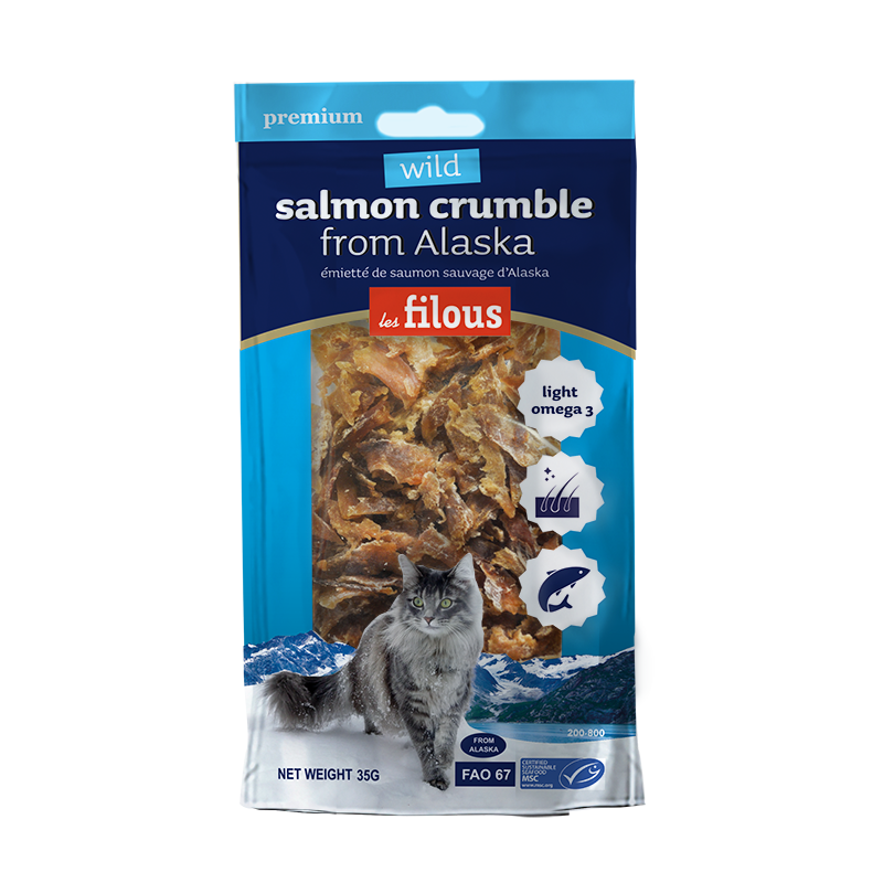 Bocconcini di salmone dell'Alaska per gatti