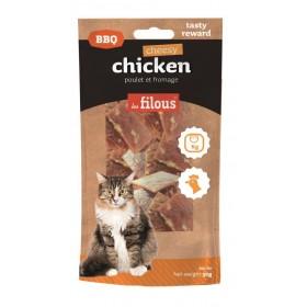 Strisce di pollo e formaggio BBQ per gatti