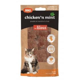 Strisce di pollo e menta BBQ per gatti