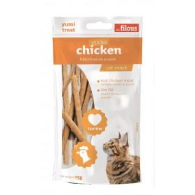 Bastoncini di pollo per gatti