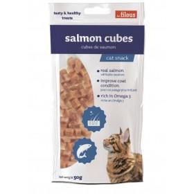 Cubetti di salmone naturale per Gatti
