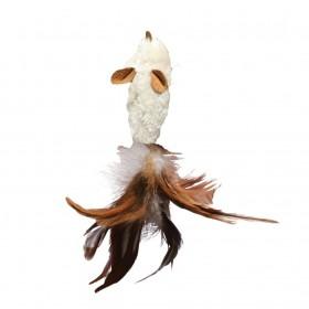 Kong Gatto Gioco Topo e Piume da riempire con erba gatta