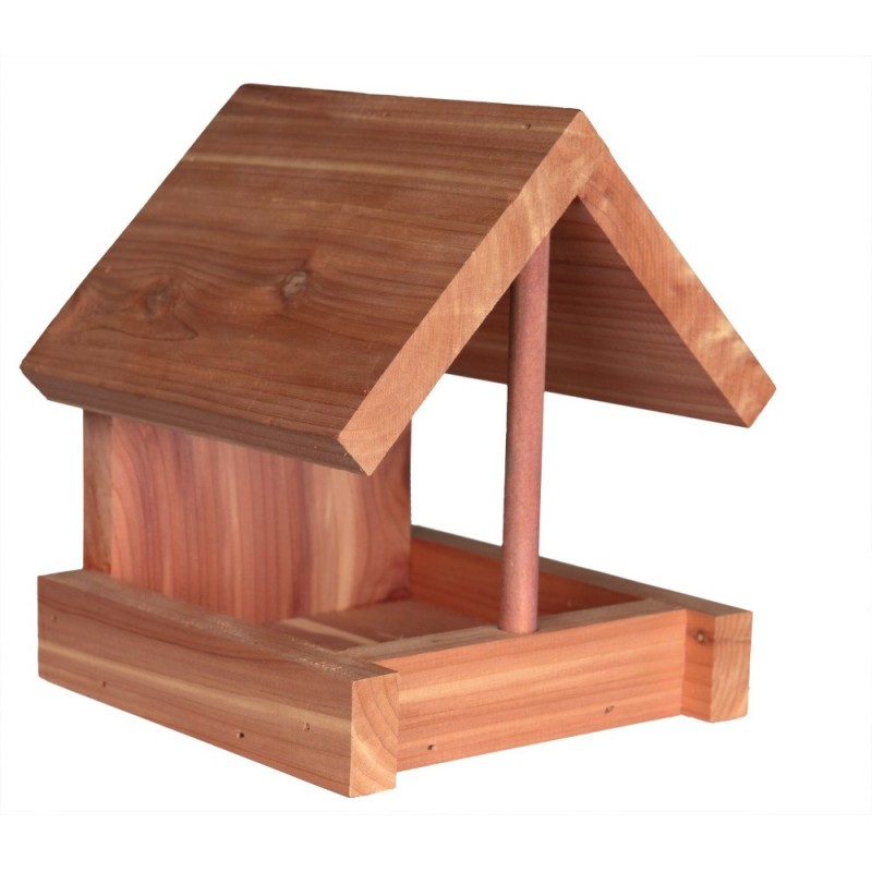 Mangiatoia, da appendere al muro, in legno di cedro