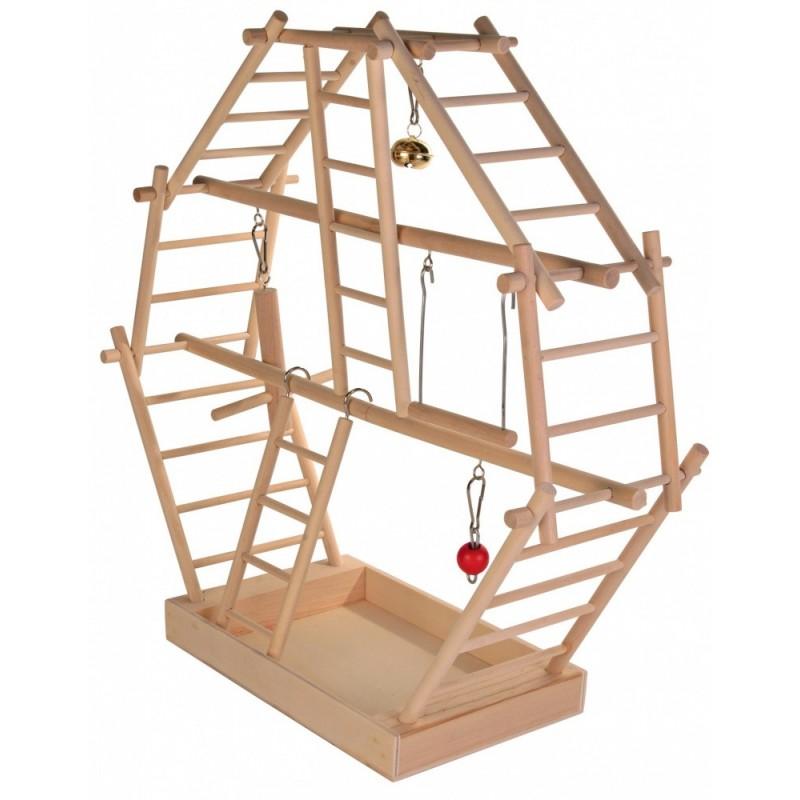 Spazio gioco di scale in legno