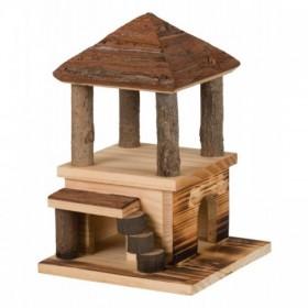 Casetta Sten in legno fiammato