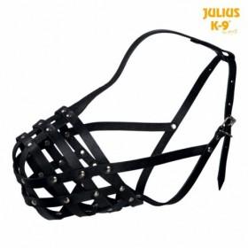 Museruola Julius-K9®, in pelle di bovino