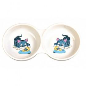 Ciotola doppia  in ceramica