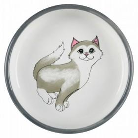 Ciotola in ceramica, per razze con il muso corto