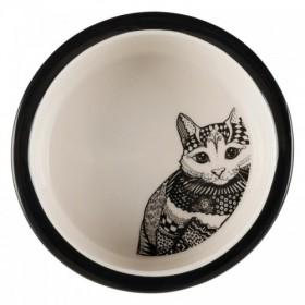 Ciotola in ceramica Zentangle