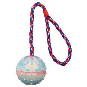 Assortimento di palle con corda in gomma naturale