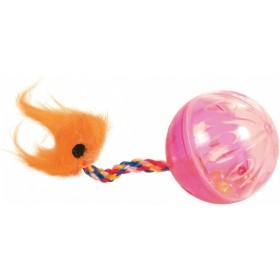 Set di palline con coda e sonaglio in plastica