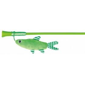 Canna da pesca con pesce