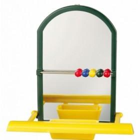 Specchio con posatoio